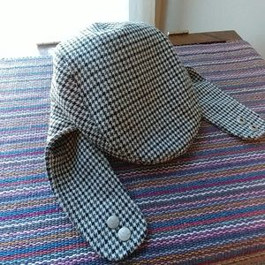 Kangol tweed newsboy hat with flaps size small